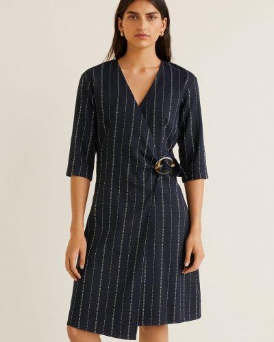 Платье мини с запахом с V-образным вырезом Mango