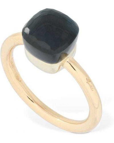Niebieski złoty pierścionek Pomellato