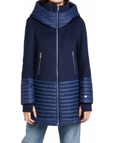 Стеганое шерстяное пальто с воротником Soia & Kyo