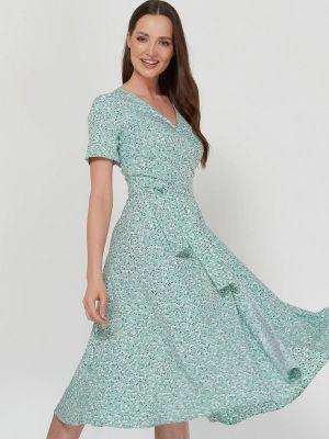 Бирюзовое платье с запахом A.karina