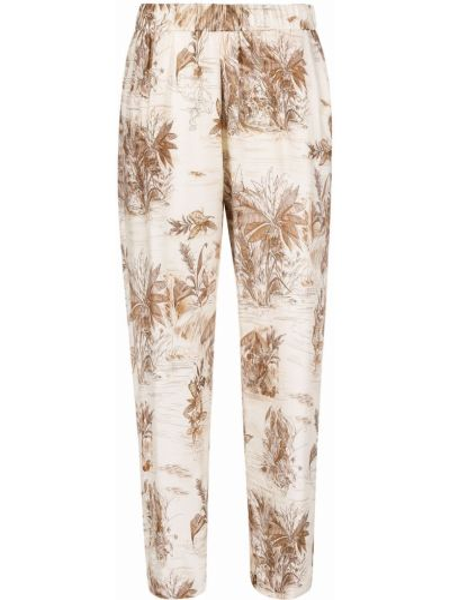 Укороченные брюки с карманами из вискозы с принтом Diega