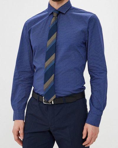 Синяя рубашка с длинным рукавом Warren Webber