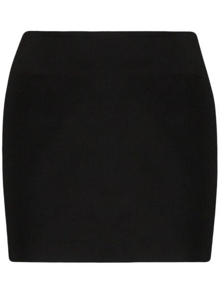 Юбка мини с заниженной талией черная Gauge81