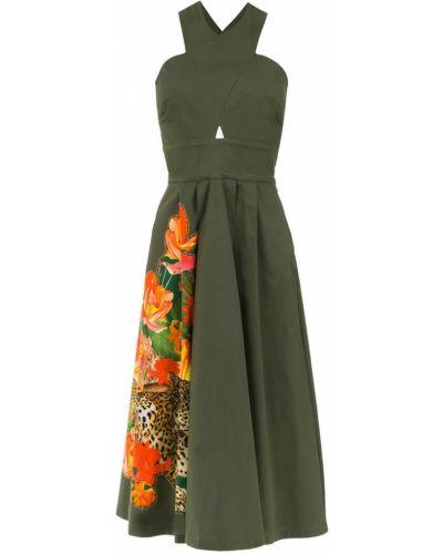 Платье с поясом зеленый Isolda