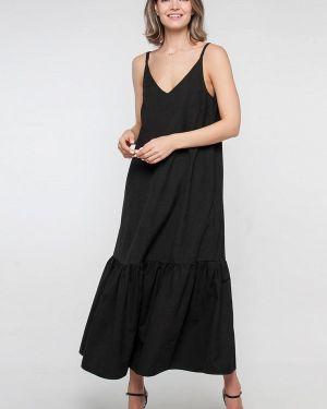 Платье платье-сарафан черное Лимонти