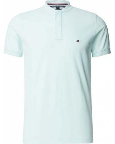 T-shirt bawełniany turkusowy Tommy Hilfiger