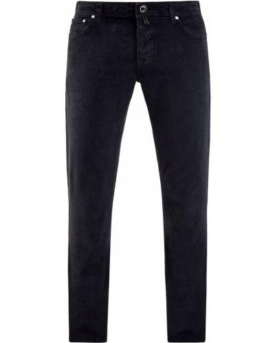 Хлопковые серые джинсы с сеткой Jacob Cohen