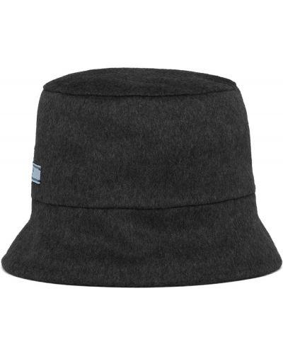 Z kaszmiru czarny kapelusz Prada