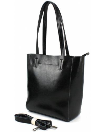 Кожаная сумка - черная Borsacomoda