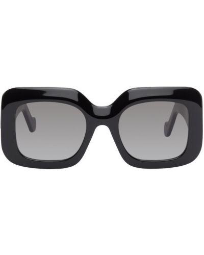 Кожаные черные солнцезащитные очки квадратные Loewe