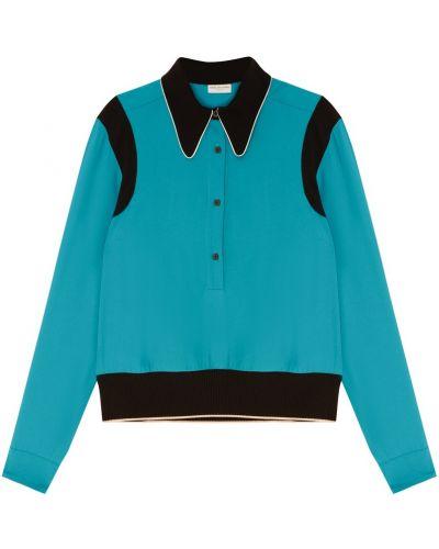 Блузка бирюзовая с пышными рукавами Dries Van Noten