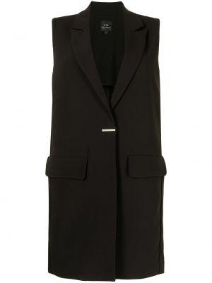 Пальто без рукавов - черное Armani Exchange