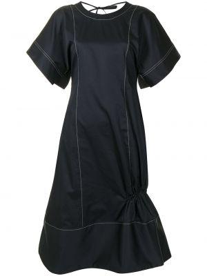 Хлопковое платье - синее Eudon Choi