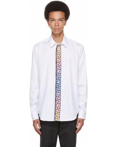 Biała koszula z długimi rękawami Versace