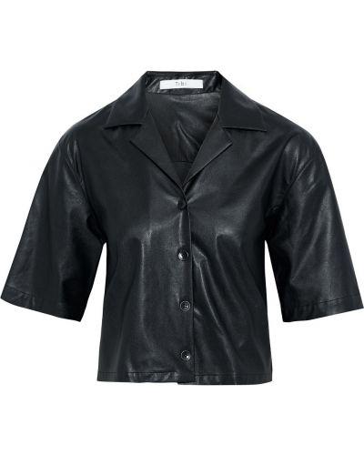 Koszula skórzana - czarna Tibi