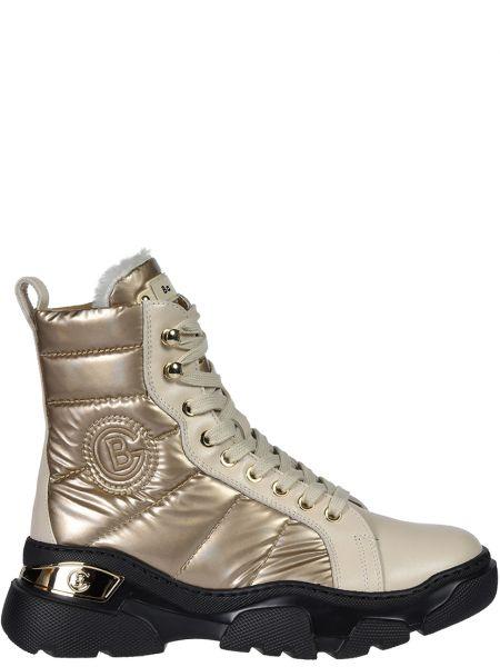 Кожаные ботинки - золотые Baldinini