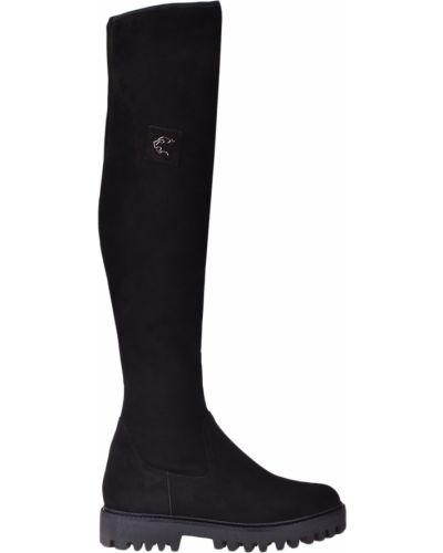 Черные замшевые ботфорты на каблуке Norma J.baker