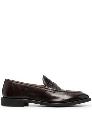 Brązowe loafers skorzane Alberto Fasciani