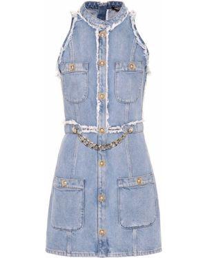 Джинсовое платье Balmain