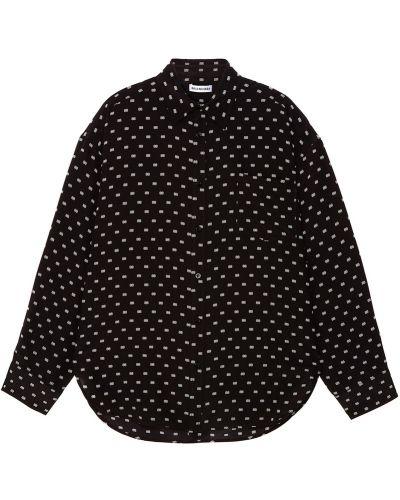 Блузка с длинным рукавом в горошек шелковая Balenciaga