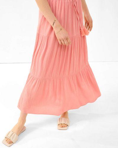 Pomarańczowa spódnica maxi z wiskozy Orsay