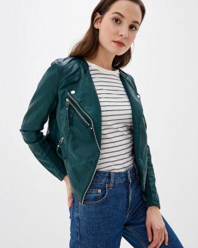 Кожаная куртка осенняя зеленая Vero Moda