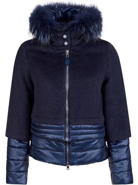 Куртка из альпаки - синяя Gallotti