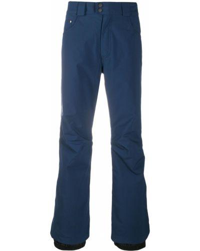 Прямые синие брюки на пуговицах Rossignol