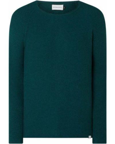 Zielony sweter bawełniany z raglanowymi rękawami Nowadays