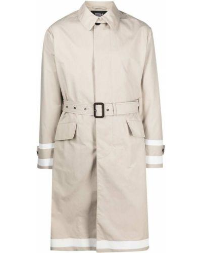 Beżowy długi płaszcz bawełniany z długimi rękawami Stella Mccartney