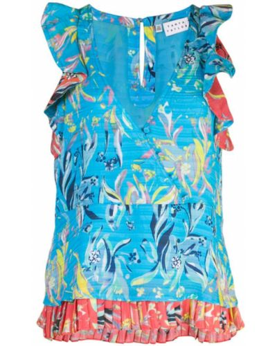 Блузка без рукавов с запахом батник Tanya Taylor