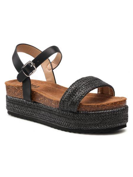 Czarne sandały espadryle Xti