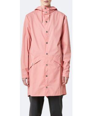 Длинная куртка розовая куртка-жакет Rains