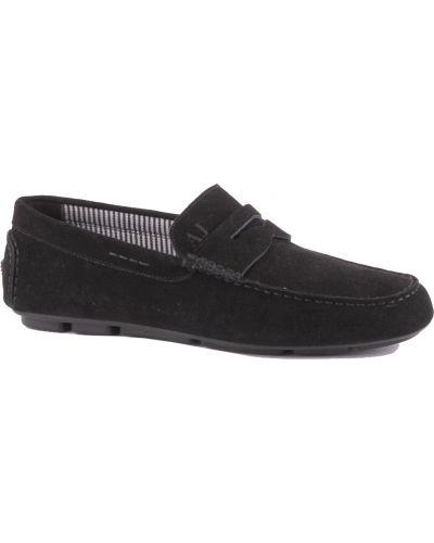 Черные кожаные мокасины Armani Jeans