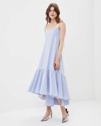 Голубое платье прямое Imperial