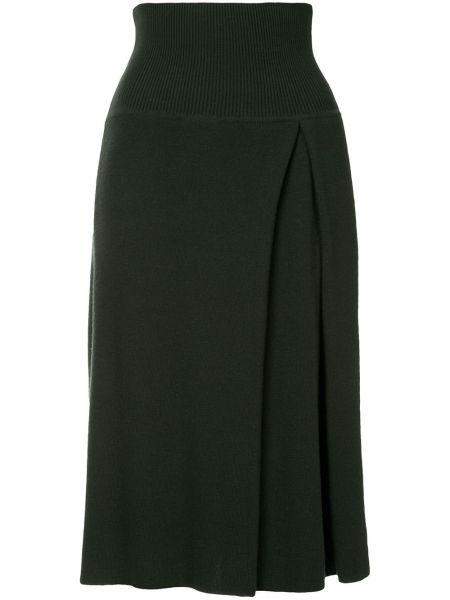 Зеленая кашемировая юбка Nehera