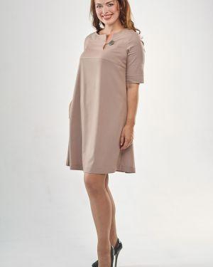 Повседневное с рукавами платье мини на пуговицах Mari-line