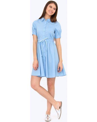 Платье мини на пуговицах с поясом Emka