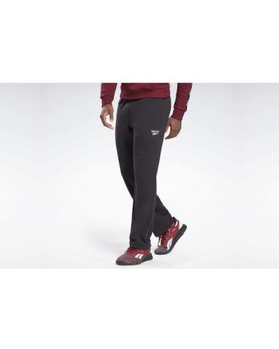 Klasyczne czarne spodnie klasyczne bawełniane Reebok