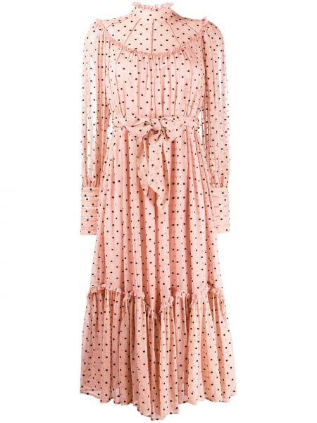 Платье миди в горошек на молнии Zimmermann