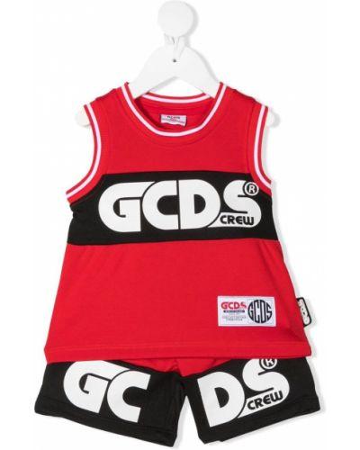 Czarny dres z printem bez rękawów Gcds Kids