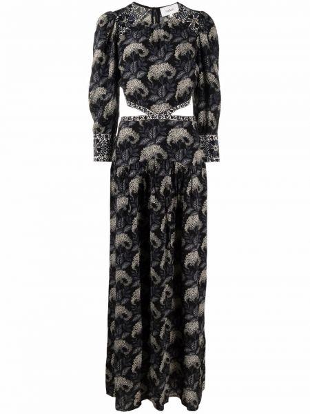 Черное платье в цветочный принт Ba&sh