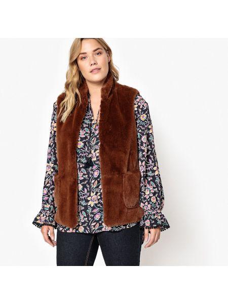 Пальто с воротником-стойкой на крючках с воротником Castaluna