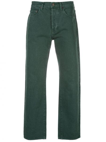 Bawełna zielony jeansy na wysokości z kieszeniami wysoki wzrost Supreme