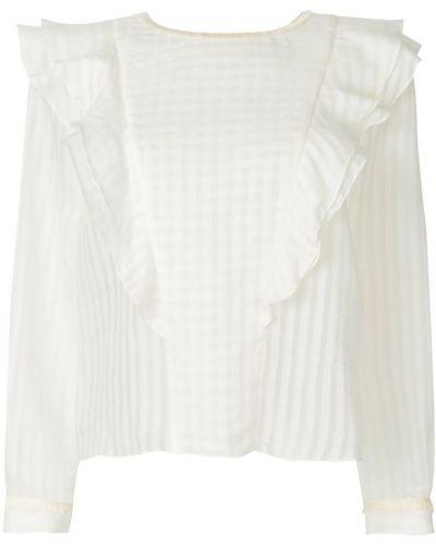 Белая блузка шелковая Vilshenko