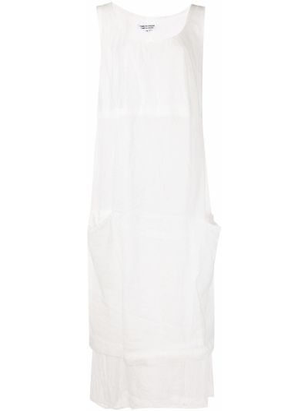 Прямое белое платье миди без рукавов Comme Des Garçons Comme Des Garçons