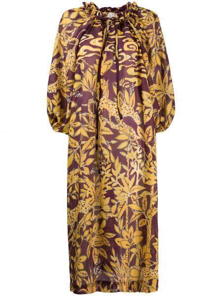 Платье с цветочным принтом шелковое Lautre Chose