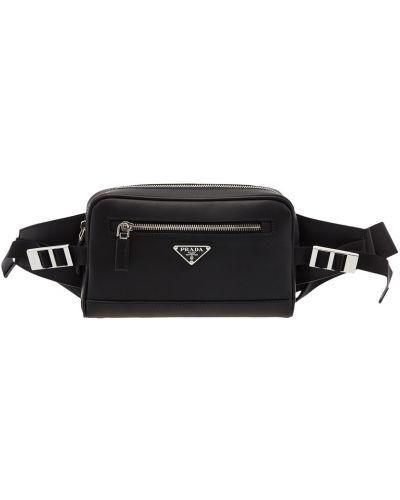 Поясная сумка кожаная на молнии Prada