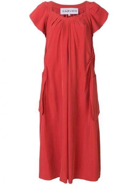 Платье шелковое расклешенное Carven