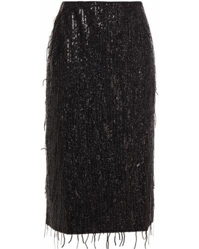 Spódnica z wiskozy - czarna Samsøe φ Samsøe